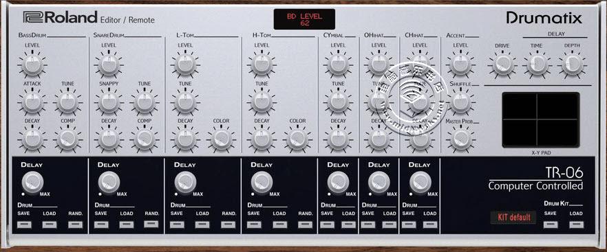 Roland TR-06 Drumatix鼓机编辑器发布(视频)