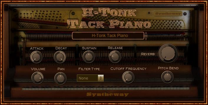 Syntheway发布H-Tonk Tack Piano虚拟钢琴插件