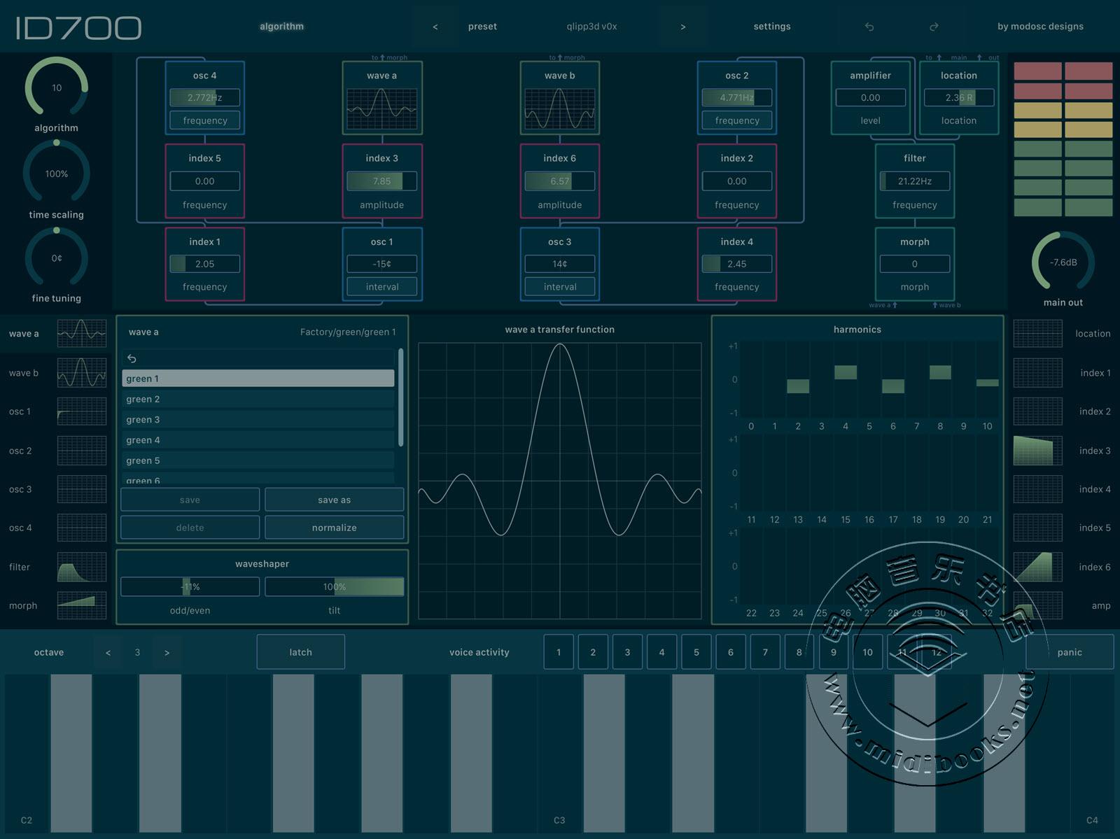 ID700,可用在iPad上的Buchla风格合成器