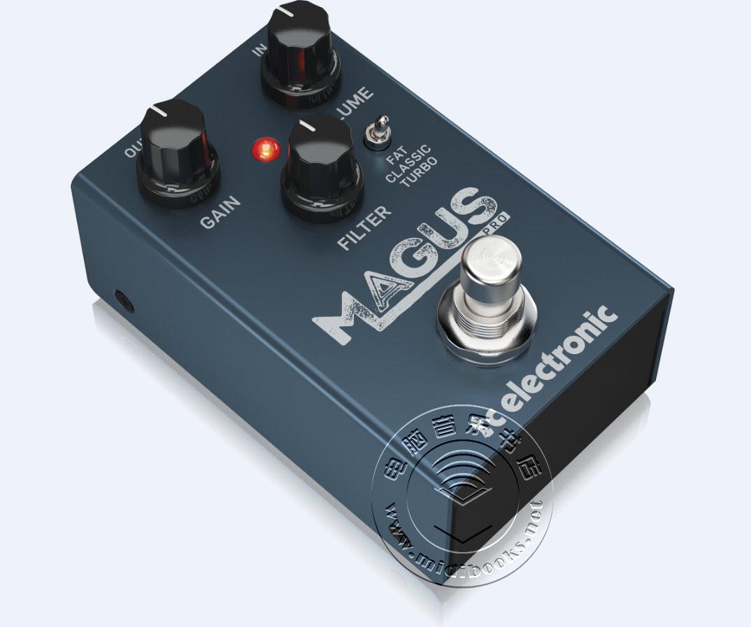 TC Electronic 推出多用途模拟失真单块效果器 Magus Pro(视频)