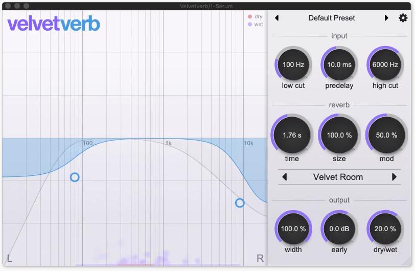 Velvetverb,可用于Mac和Windows系统的新算法混响器